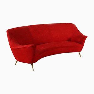 Mid-Century Red Italian Sofa