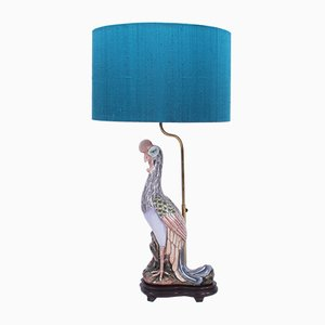Französische Vintage Lampen aus Keramik in Vogel-Optik, 1960er, 2er Set