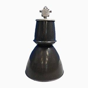 Lámpara colgante checa vintage industrial esmaltada de Elektrosvit, años 60