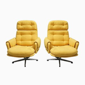 Mid-Century Czech Swivel Lounge Chair by Gerlard Nuesser for Interier Praha, 1960s