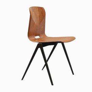 Brauner Vintage S22 Stuhl aus Eiche von Galvanitas