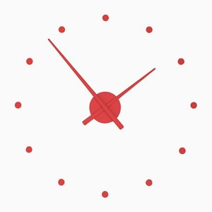 Red OJ Mini Clock by Jose Maria Reina for NOMON