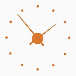 Mini Horloge OJ Orange Citrouille par José Maria Reina pour NOMON