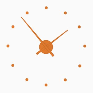 Pumpkin OJ Mini Clock by Jose Maria Reina for NOMON