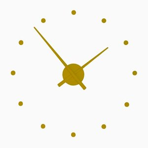 Mini Horloge OJ Jaune Moutarde par José Maria Reina pour NOMON