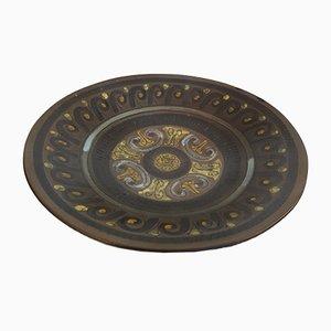 Piatto in ceramica di Jean de Lespinasse, anni '60
