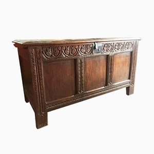 Antique English Oak Chest, 1630s