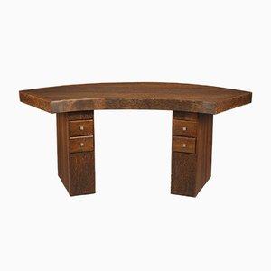 Art Deco Vintage Schreibtisch aus Palmenholz