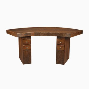 Vintage Art Deco Palmwood Writing Desk