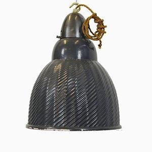 Lámpara colgante Mercury grande de vidrio, años 30