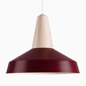 Burgundy Ash Eikon Circus Pendant Lamp from Schneid Studio