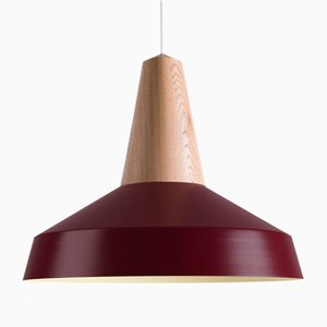 Burgundy Oak Eikon Circus Pendant Lamp from Schneid Studio