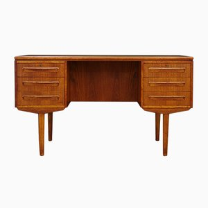 Vintage Danish Teak Desk by J. Svenstrup