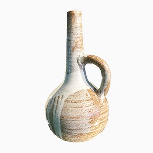 Antique French Earthenware Vase Pitcher by Eugene Lion