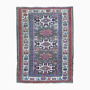 Antique Handmade Caucasian Lesghi Rug, 1900s