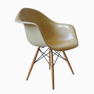 Poltrona da pranzo DAW in fibra di vetro di Charles & Ray Eames per Herman Miller, anni '60