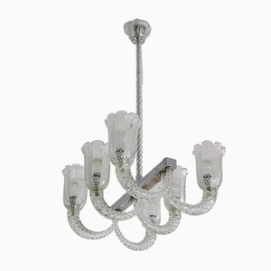 Mid-Century Italian Murano Chandelier by Barovier & Toso, 1940s