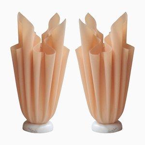 Lámparas de mesa francesas vintage de Georgia Jacob, años 70. Juego de 2
