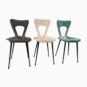 Mid-Century Plastic Chairs, Set of 3