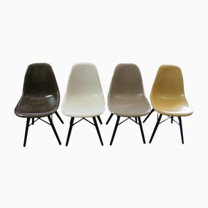 Mid-Century Fibreglass Chairs by Charles & Ray Eames for Herman Miller, Set of 4