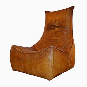 Cognac Leather Lounge Chair by Gerard Van Den Berg for Montis, 1970s