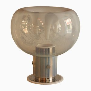 Lampada da tavolo in vetro di Murano di Toni Zuccheri per VeArt, anni '70