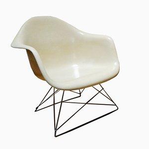 Cremefarbener LAR Armlehnstuhl von Charles & Ray Eames für Herman Miller, 1960er