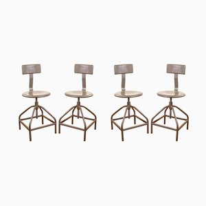 Industrielle Vintage Stuhl aus Metall