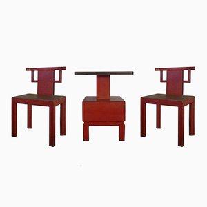 Table et 2 Chaises Antique, 1900s