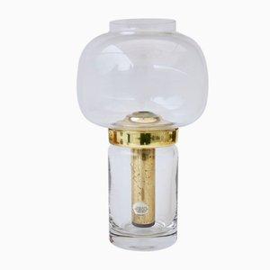 Vintage Kerzenhalter aus Glas & Messing von Hans-Agne Jakobsson