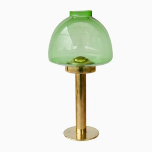 L102/32 Green Glass Candleholder by Hans-agne Jakobsson for Markaryd, 1960s