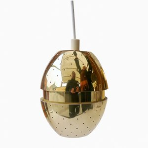 Vintage Brass Egg Pendant by Hans-agne Jakobsson for Markaryd