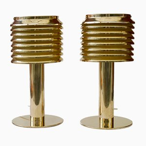 B142 Brass Table Lamps by Hans-Agne Jakobsson, 1960s, Set of 2