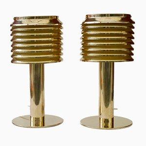 Lampes de Bureau B142 en Laiton par Hans-Agne Jakobsson, 1960s, Set de 2