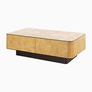 Mesa de centro de madera nudosa de Henredon Furniture, años 70