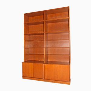 Oak Bookcase by Didier Rozaffy for Oscar, 1950s