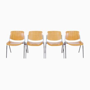 DSC Axis 106 Chairs by Giancarlo Piretti for Castelli, Set of 12