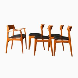 Dining Chairs by Eric Buch for O.D. Møbler, 1950s, Set of 5