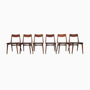 Boomerang Esszimmerstühle von Alfred Christensen, 1950er, 6er Set