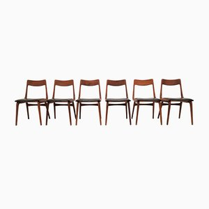 Sedie da pranzo Boomerang di Alfred Christensen, anni '50, set di 6