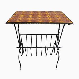Tavolino vintage con piastrelle