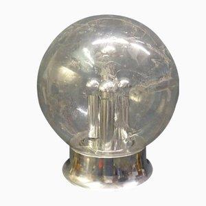 Lampada da terra vintage in metallo cromato e vetro di Doria Leuchten