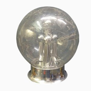 Vintage Stehlampe aus Chrom & Glas von Doria Leuchten