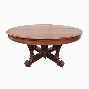 Mesa extensible francesa antigua de caoba