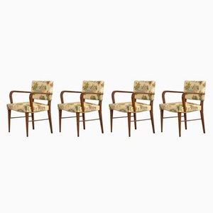 Italian Armchairs, 1930s, Set of 4