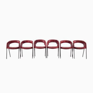 P34 Chairs by Gastone Rinaldi for Rima, 1950s, Set of 6