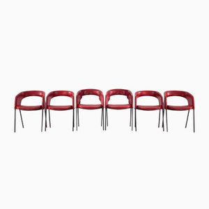 P34 Stühle von Gastone Rinaldi für Rima, 1950er, 6er Set
