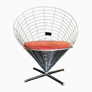 Vintage K2 Wire Cone Chair by Verner Panton for Plus Linje