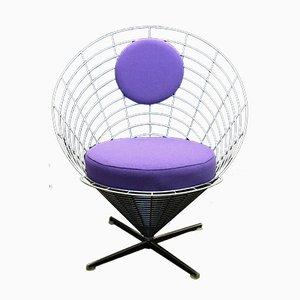 Chaise K2 Wire Cone Vintage par Verner Panton pour Plus Linje