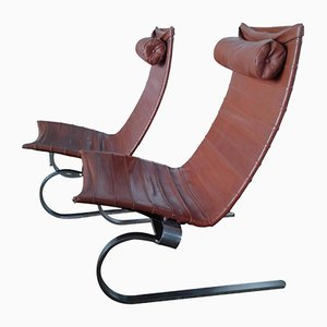 PK 20 Leather Lounge Chairs by Poul Kjærholm for E. Kold Christensen, 1960s, Set of 2